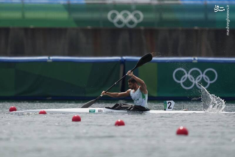 عکس/ رقابت نماینده کشورمان در رشته کایاک یکنفره المپیک
