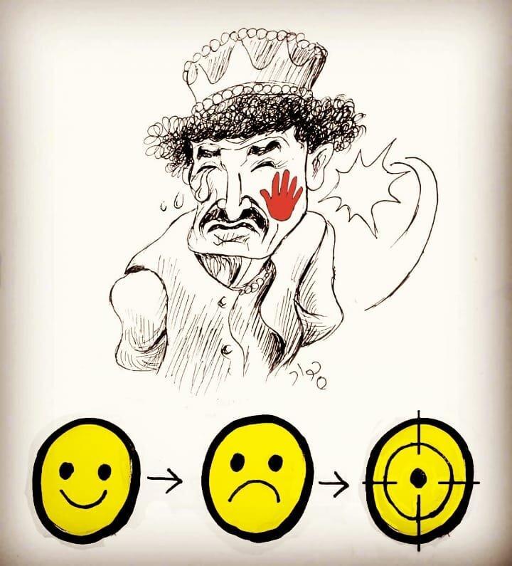 کاریکاتور/ پایان تلخ یک کمدین با قتل!