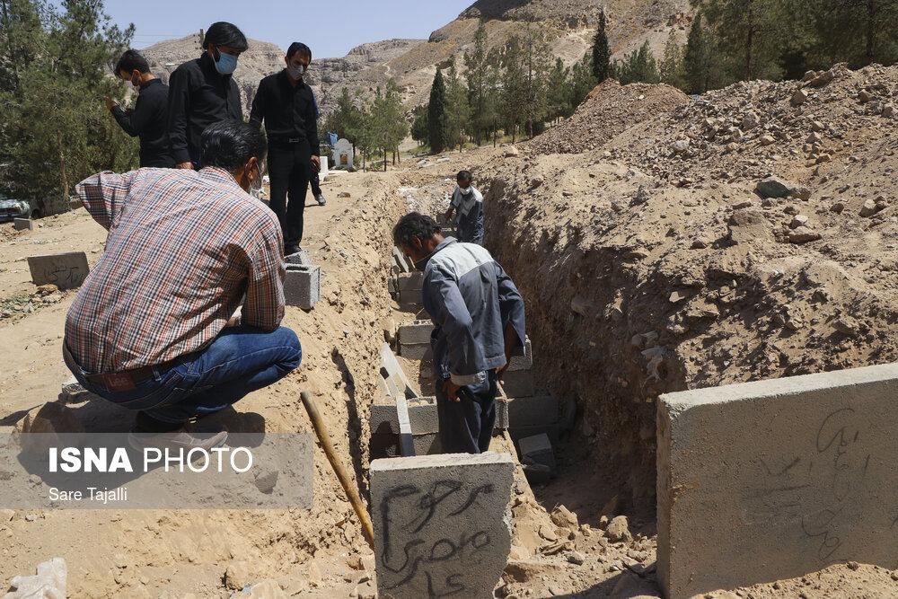 عکس/ محل دفن جانباختگان کرونا به صورت گروهی در کرمان!