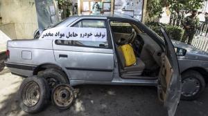 توقیف سواری پژو حامل حشیش در مهریز