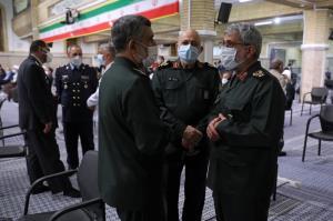 گپ و گفت فرماندهان ارشد نیروهای مسلح در حاشیه مراسم تنفیذ