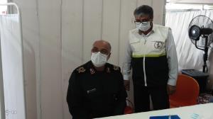 فرمانده سپاه روحالله واکسن ایرانی کرونا دریافت کرد