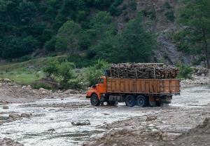 سوء استفاده قاچاقچیان چوب از شرایط سیلاب در استان مازندران