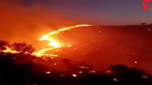 آتشسوزی در ارتفاعات تنگه هایقر استان فارس