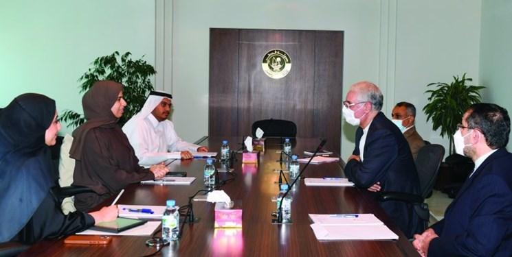 رايزني دستيار وزير خارجه قطر و سفير ايران درباره روابط تهران-دوحه