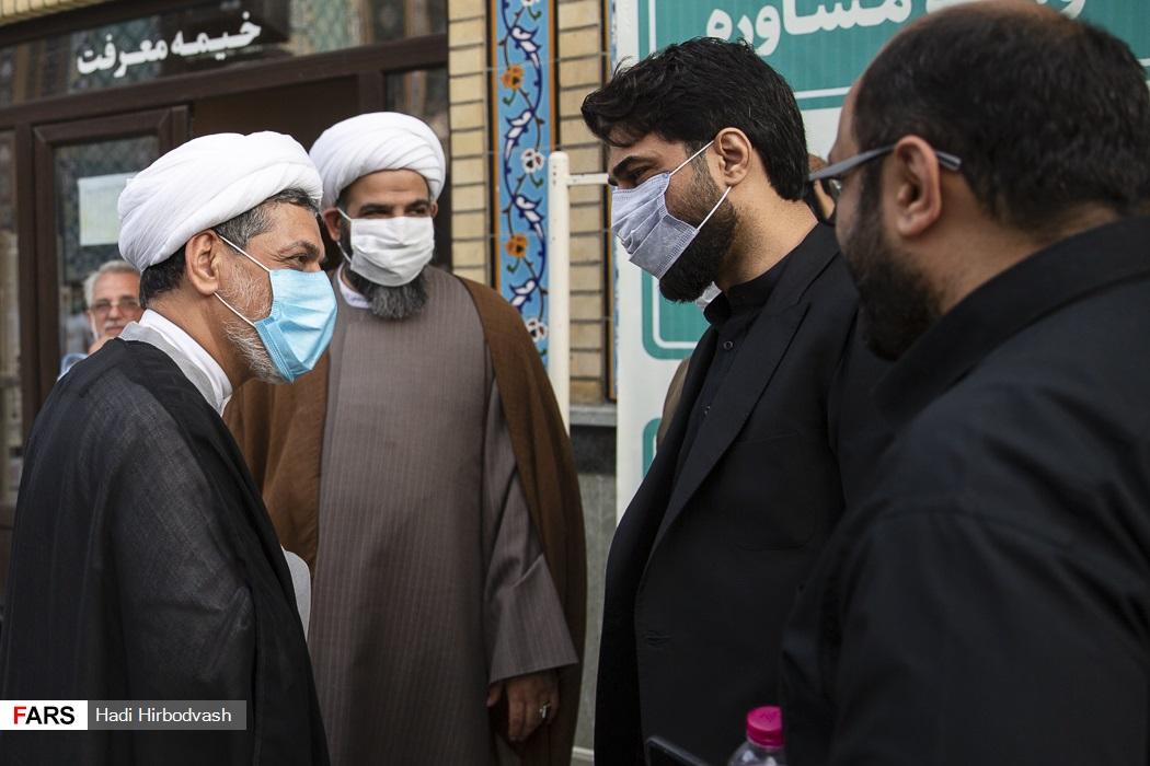 مراسم سیاه پوشان جامعه مداح تهران