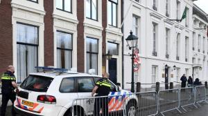 کشف کیف مشکوک مقابل سفارت عربستان در لاهه