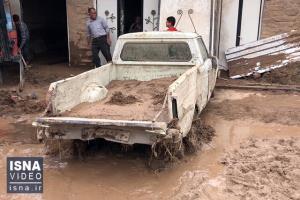 خسارات سیل ناگهانی در روستاهای قزوین