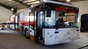 تولید اتوبوس آمبولانسی ایرانی با نصف قیمت خارجی