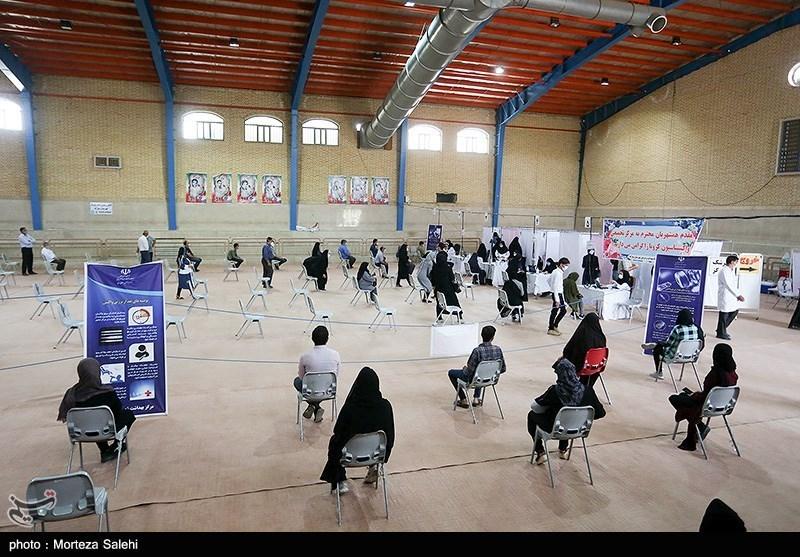 عکس/ مرکزتجمیعی واکسیناسیون کرونا درمبارکه اصفهان