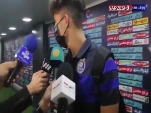 صحبتهای بازیکنان استقلال بعد از دیدار با گلگهر