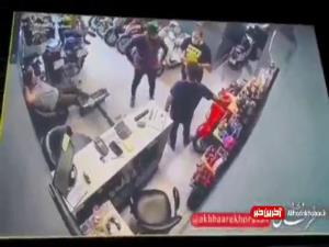 حمله وحشیانه و ترسناک یک شرور با قمه به فروشنده