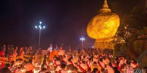 صخره طلایی میانمار یکی از دیدنی ترین جاذبه های گردشگری