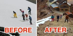 گرمایش جهانی مرتفع ترین پیست اسکی دنیا را به تعطیلی کشاند