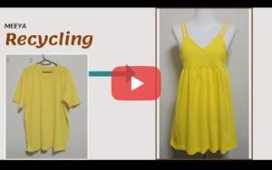 آموزش بازیافت لباس؛ تبدیل تیشرت به تاپ