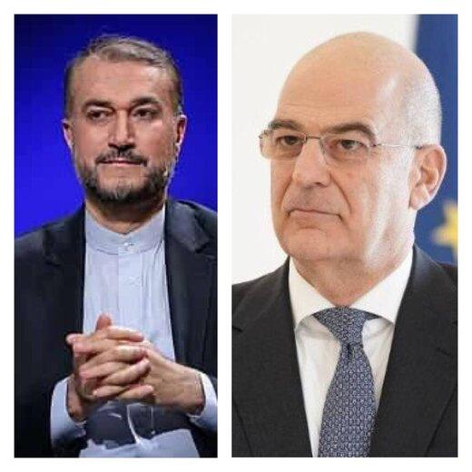 وزیرخارجه یونان به امیرعبداللهیان پیام داد