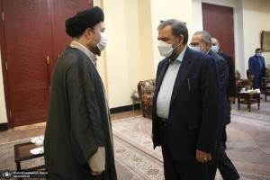 تصاویری از خوش و بش سیدحسن خمینی با وزرا و معاونان رئیسی