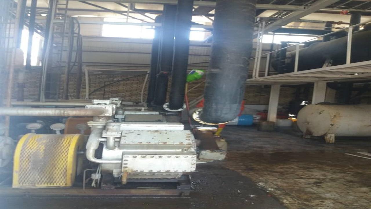 مهار نشت گاز آمونیاک در شهرک صنعتی بیرجند