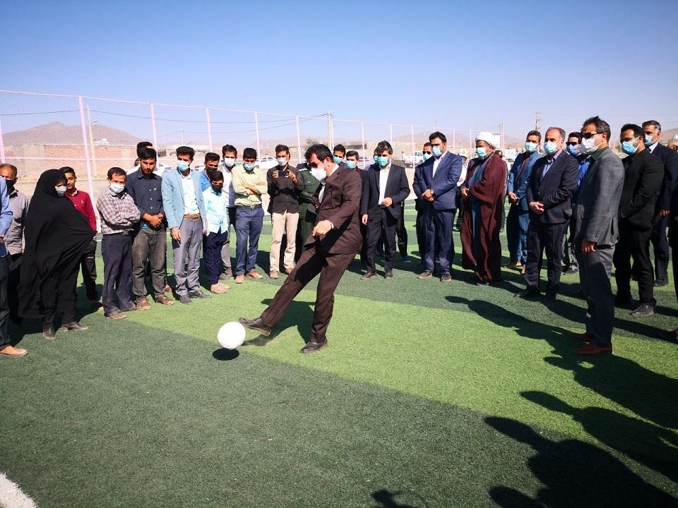 افتتاح ۴ باب زمین چمن مصنوعی در شهرستان نهبندان