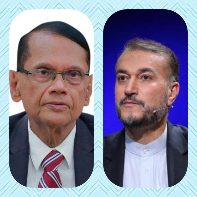 وزیر خارجه سریلانکا به امیرعبداللهیان تبریک گفت