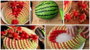 برش های خلاقانه هندوانه