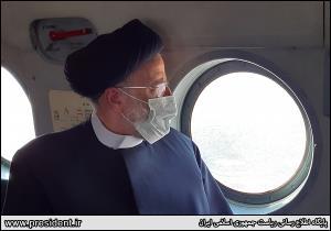 بازدید هوایی رئیسجمهور از تالاب هورالعظیم