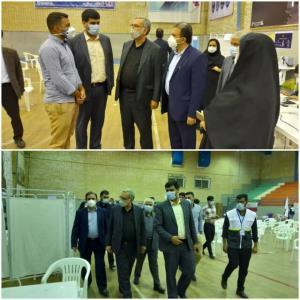 بازدید وزیر بهداشت از بیمارستان رازی و مراکز واکسیناسیون اهواز