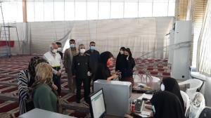 عکس/ راهاندازی بزرگترین پایگاه واکسیناسیون خوزستان در ماهشهر