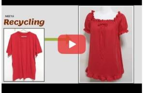 بازیافت لباس قدیمی؛ این قسمت دوخت تونیک مدل دار