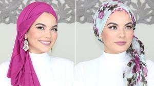 ترفندهای بستن شال به سبک عربی