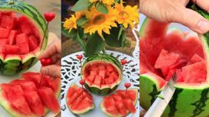 میوه آرایی با برش های هنرمندانه هندوانه