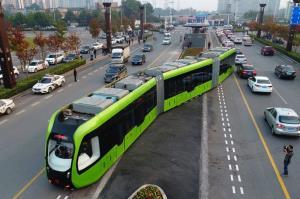 تست قطار برقی خودران و بیریل در چین