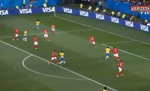 گل تماشایی کوتینیو مقابل سوئیس