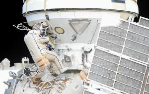 ماژول جدید ایستگاه فضایی بینالمللی با راهپیمایی فضانوردان جان گرفت