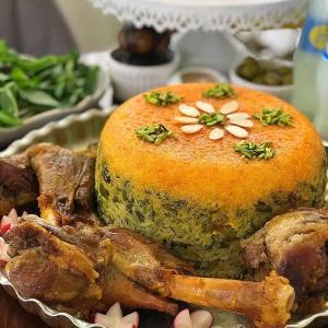 طرز تهیه ته چین باقالی پلو با ماهیچه به روش رستورانی