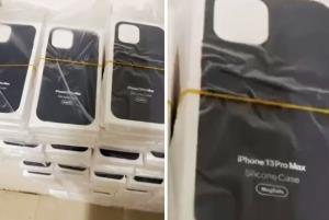 قاب سیلیکونی آیفون 13 پرو مکس اپل، نام این دستگاه را تایید میکند