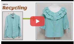 آموزش بازیافت لباس؛ این قسمت تبدیل بلوز مردانه به لباس زنانه