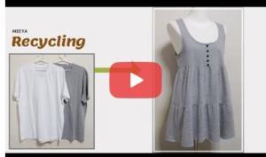 آموزش بازیافت لباس؛ این قسمت تبدیل تیشرت به تونیک