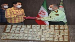 بازگرداندن دلارهای گمشده به صاحبش در لاهیجان
