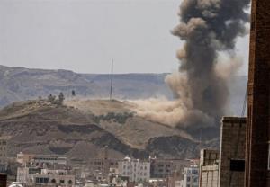 ائتلاف سعودی مواضع نیروهای یمنی در تعز را بمباران کرد