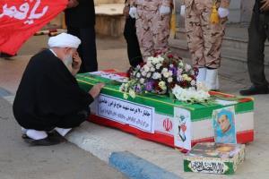 پیکر جانباز شهید دفاع مقدس در گلزار شهدای کاشان آرام گرفت