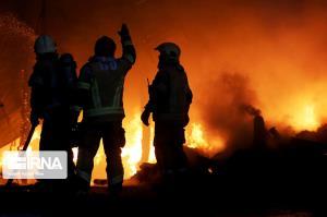 آتشسوزی ساختمان مسکونی در بیجار مهار شد