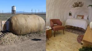 هتلی شگفت انگیز به شکل سیب زمینی