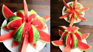 در برش و تزئین هندوانه ماهر شوید