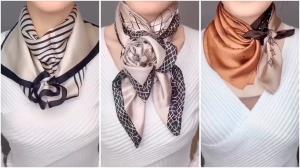 پیشنهادهای خلاقانه برای بستن شال و روسری