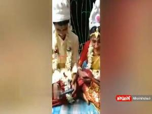 بازی کردن عروس و داماد در وسط جشن عروسی!