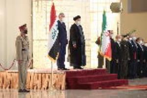 استقبال رسمی رئیسجمهور از نخست وزیر عراق