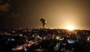 تصاویر بیشتر از حمله هوایی رژیم صهیونیستی به غزه در شب گذشته