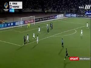 گل اول پرسپولیس به استقلال در دقیقه 90