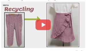 آموزش بازیافت لباس؛ تبدیل شلوار به دامن